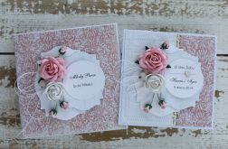 Kwiatowa kartka ślubna z pudełkiem A55