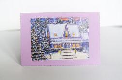 Kartka świąteczna - zimowy pejzażyk nr 10