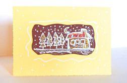 kartka żółta - domek -1