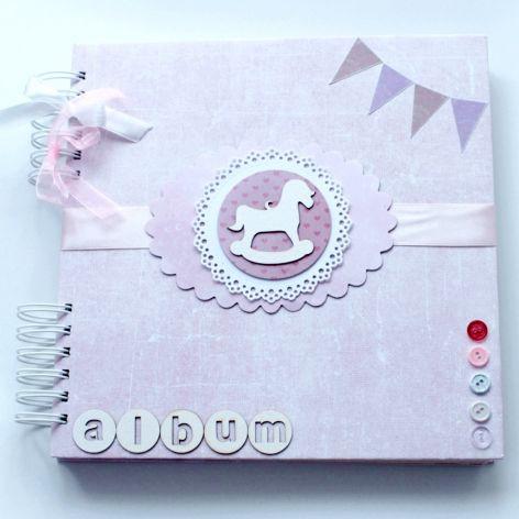 Album dla dziewczynki - różowy z konikiem