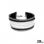Rockowa czarno-biała bransoleta