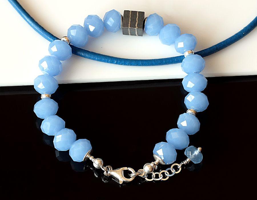 Awenturyn  - bransoletka - niebieska bransoletka