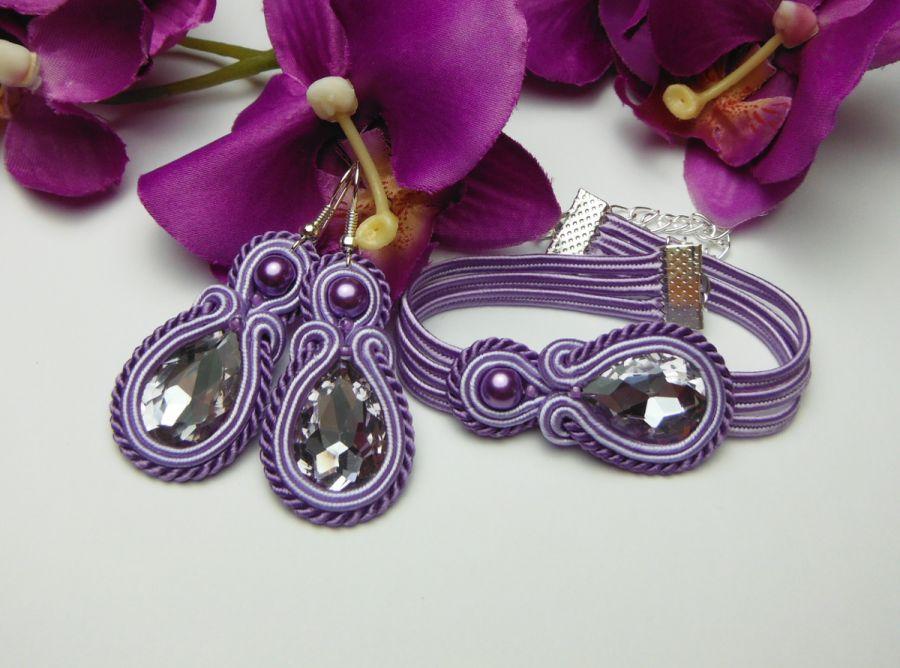 Biżuteria sutasz lawenda fioletowa fiolet