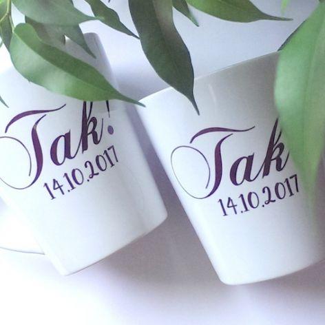 2 Kubki Ślubne Latte (Podaj datę ślubu)