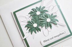 Kartka NA ŚLUB biało-zielona