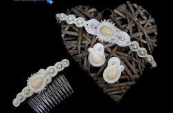 Biżuteria ślubna ivory ecru śmietankowa