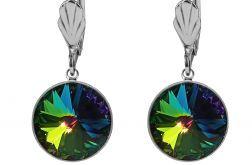 Barwne kolczyki z kryształami Swarovski