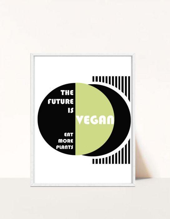 Plakat The future is Vegan -
