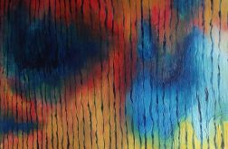 obraz olejny abstrakcja pasy