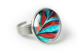 BAROK pierścionek regulowany z ilustracją