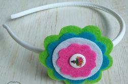 Opaska do włosów z filcu kwiatuszki