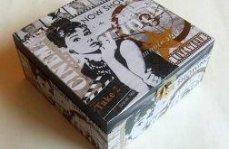 Szkatułka pudełko DECOUPAGE Audrey Hepburn