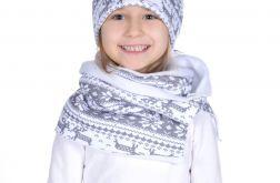 Zimowy komplet czapka i komin