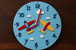 Zegar dla dziecka z samolotami
