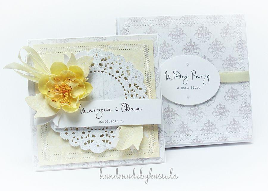 Wyjątkowa kartka ślubna w pudełku