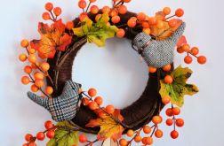 Wianek jesienny z ptaszkami