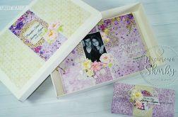 WZÓR Album ślubny w pudełku z kartką