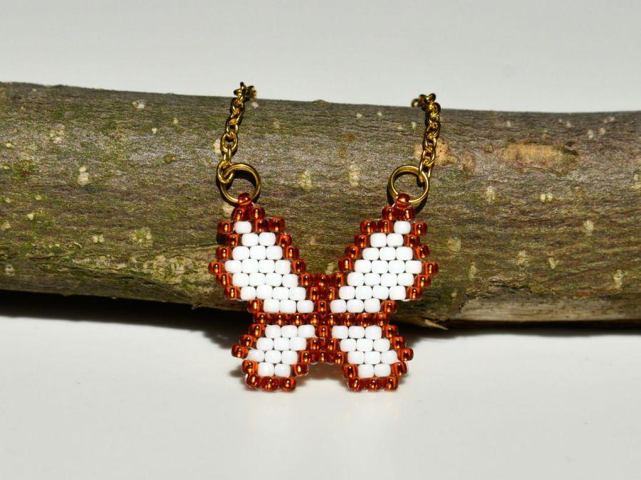 Naszyjnik celebrytka złoty łańcuszek motyl