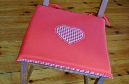 Poduszka na krzesło, siedzisko - czerwone serce