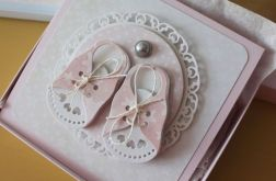 Kartka Little Shoes - Pink
