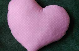 Poduszka SERCE bawełna 100% różowy