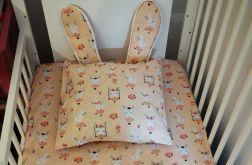Poszewka na poduszkę z uszkami+przescieradlo