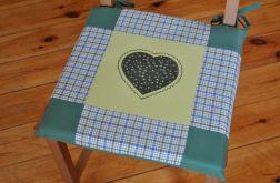Poduszki na krzesła,siedziska - zielone - 4szt
