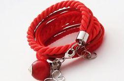 Podwójna bransoletka czerwona1