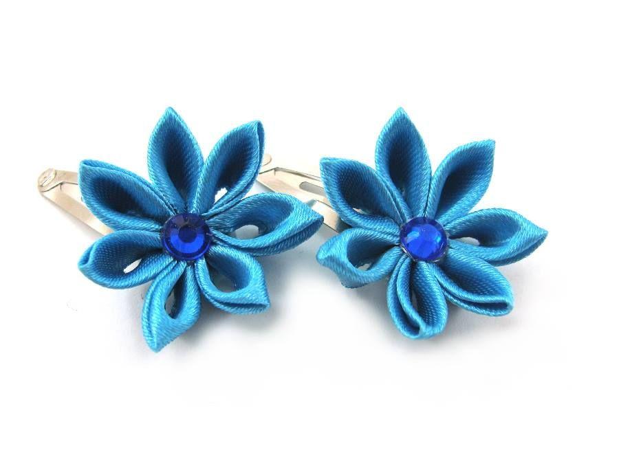 Niebieskie mini spineczki