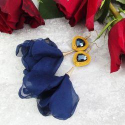 Fiona 3 - kwiatowe kolczyki sutaszowe