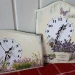 Zegar lawendowa łąka lawenda 2