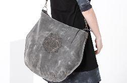 Duża torba skórzana z wypalaną mandalą
