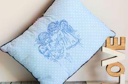 Poduszka - Dwa aniołki - haftowane