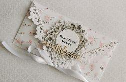 Kartka ślubna kopertowa kopertówka Grace V personalizowana