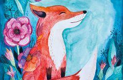 Fox wydruk ilustracji