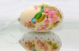 """Pisanka szyta i malowana ręcznie """"Ptak"""""""