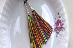 Kolorowe kolczyki chwosty - tuby