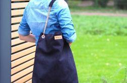 Duża torba Mili Chic łańcuch - black