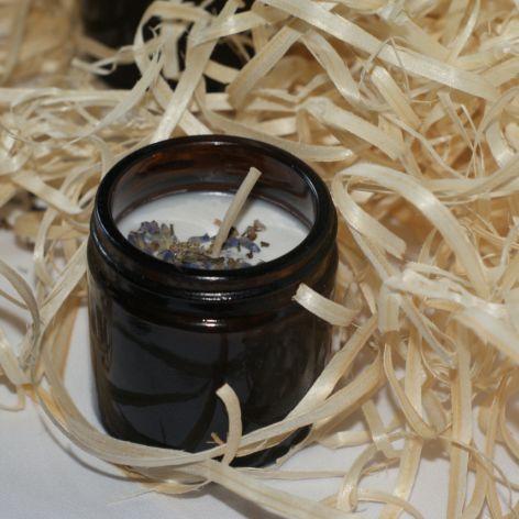 Świeczka sojowa o zapachu lawendy