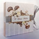 Kartka na ślub w beżach 01, prezent, pamiątka, pudełko -