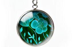Green flowers naszyjnik z ilustracją