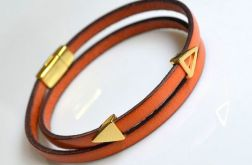 Bransoletka leather orange *