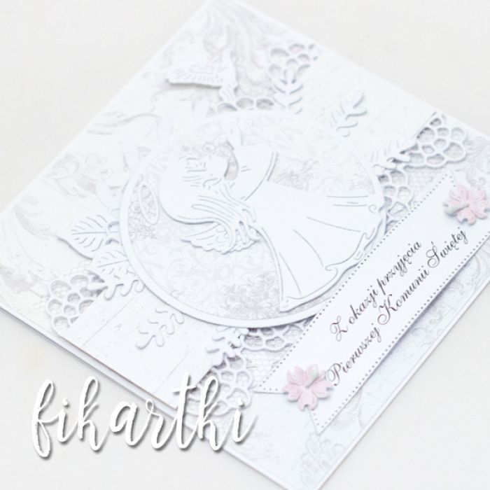 Kartka z aniołkiem na Komunię KK2005 - na chrzest