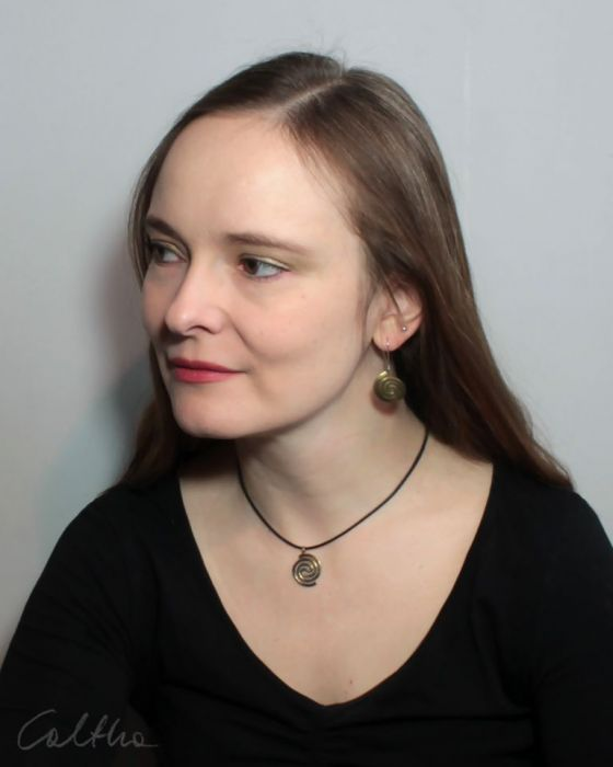 Spiralny - mosiężny wisiorek 210305-04 - Słowiańska biżuteria