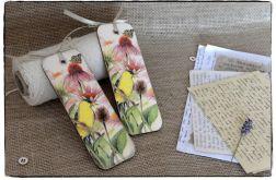 ~Od Ani~ DECOUPAGE Zakładka do książki ~Kwiaty i motyle~