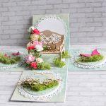 Ślubne pudełko -romantyczna ławeczka
