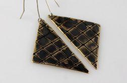 Trójkąty - mosiężne kolczyki 191023-02