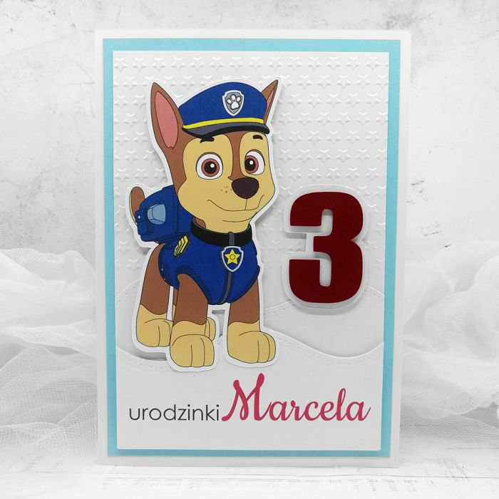 Kartka minimalistyczna Psi Patrol UDP 026