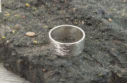 Pierścionek - obrączka srebrna 925- unisex