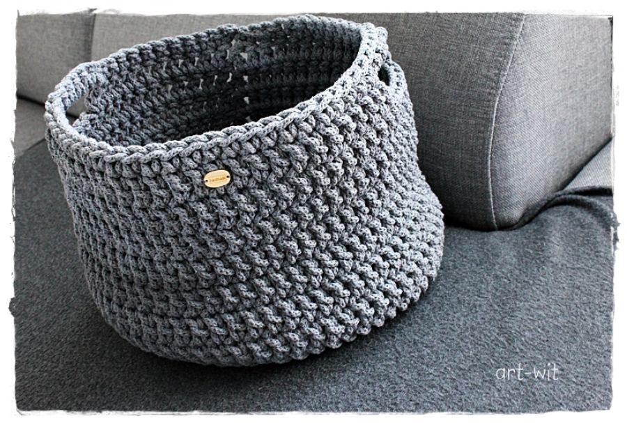 Koszyk ze sznurka bawełnainego